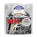 RK Chain and Sprocket Dirt Kit (Aluminum) for KLX400R 03-04