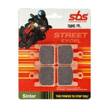 SBS Street Excel Sintered Front Brake Pads for ZX6R/RR 03-06 (Closeout)