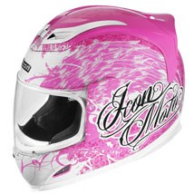 Icon Women's Airframe Street Angel Helmet Pink/White