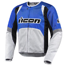 Icon Men's Overlord Textile Jacket Blue (Closeout)