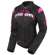 Icon Women's Contra Textile Jacket Black/Pink
