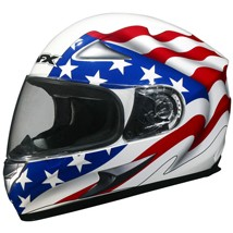 AFX FX-90 Flag Helmet White/Red/Blue (Closeout)