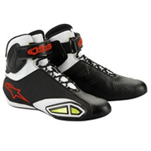 Alpinestars Men's Fast Lane Shoes Black/White/Red