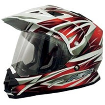 AFX FX-39DS Dual Sport Helmet Red Multi