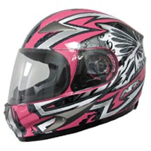 AFX FX-90 Passion Helmet Silver/Pink (Closeout)