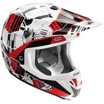 Thor Verge Block Helmet White/Black/Red (Closeout)