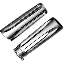 Arlen Ness Ness-Tech Grips Deep Cut Chrome for FLHR 08-12
