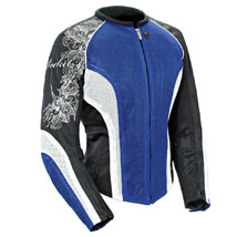 Joe Rocket Women's Cleo 2.2 Mesh Jacket Blue/White/Black