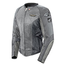 Joe Rocket Women's Goldwing Skyline 2.0 Mesh Jacket Silver/Grey