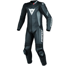 Dainese Crono Perforated Leather 1 Piece Suit Black/Black/Anthracite