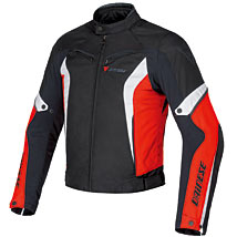 Dainese Crono Textile Jacket Black/Red/White