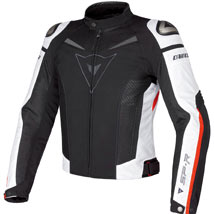 Dainese Super Speed Textile Jacket Black/White/Red