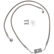 Drag Specialties Standard Length ABS Stainless Steel Front Brake Line Kit w/ ABS (Upper/Lower) for FLD 12-13