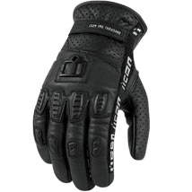 Icon Men's 1000 Turnbuckle Leather Gloves Black (Closeout)
