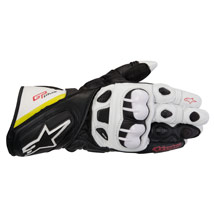 Alpinestars GP Plus Leather Gloves Black/White/Yellow/Red (Closeout)