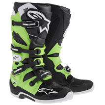Alpinestars Men's Tech 7 Boots Black/Green