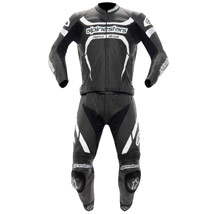 Alpinestars Men's Motegi 2 Piece Leather Suit Black/White