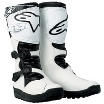 Alpinestars Men's No Stop Trial Boots White (Closeout)