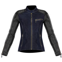 Alpinestars Women's Renee Textile/Leather Jacket Blue/Black