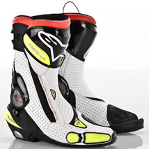 Alpinestars Men's SMX Plus Boots Black/White/Fluo-Yellow-Vented
