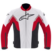 Alpinestars Men's Viper Air Textile Jacket White/Red/Black (Closeout)