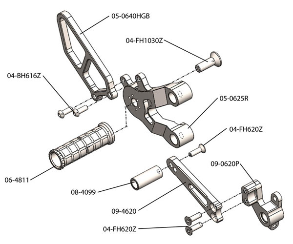 Woodcraft Complete Rearset Kit For 749 01 08