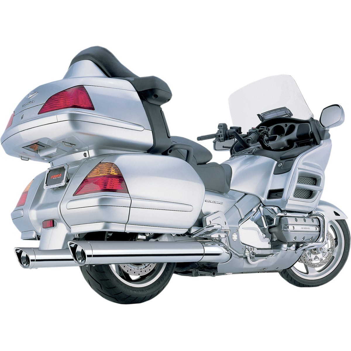 Cobra Classic 4 Exhaust For Gl1800 01 11 2003 Honda Goldwing W Standard Tip Scalloped Chrome