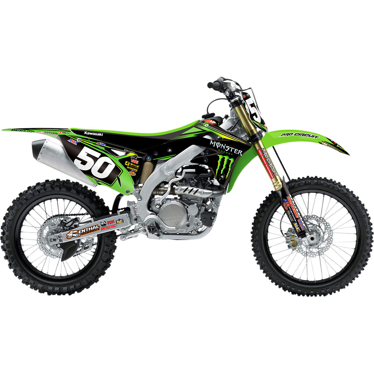 N-Style Race Team Graphic Kit for KX125 03-08