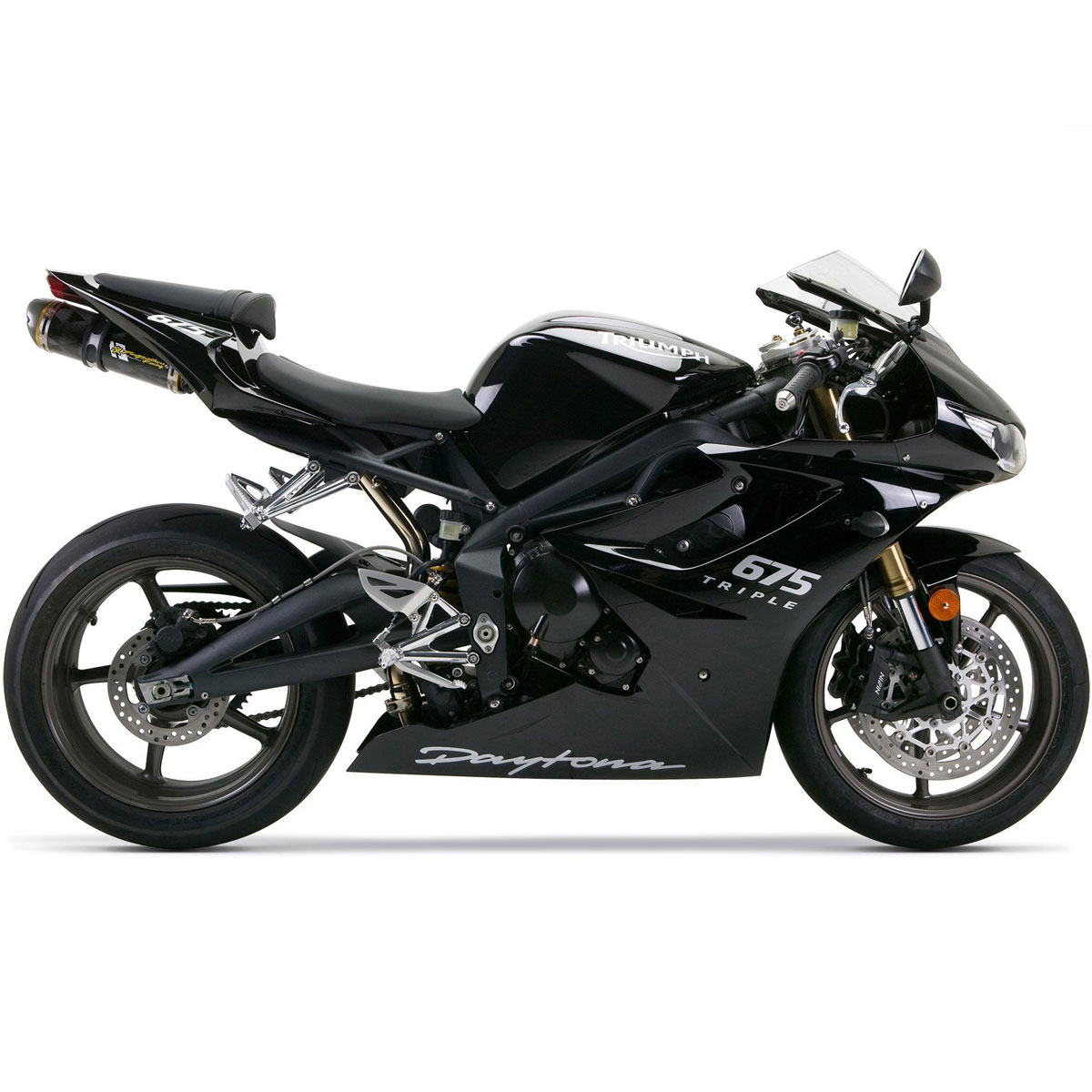 Two Brothers M5 Slip-On Exhaust for Daytona 675 06-12