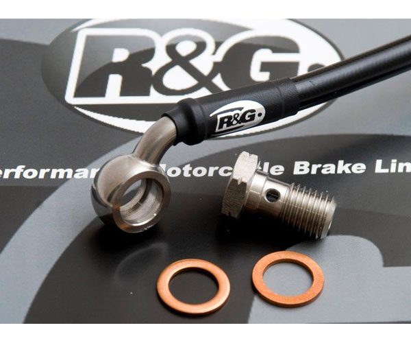 R&G Steel Braided Front Brake Lines for GSX-R750 11-18
