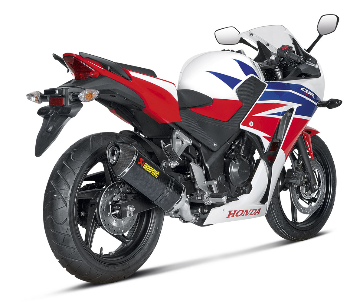 akrapovic slip on exhaust for cbr300r 14 16. Black Bedroom Furniture Sets. Home Design Ideas