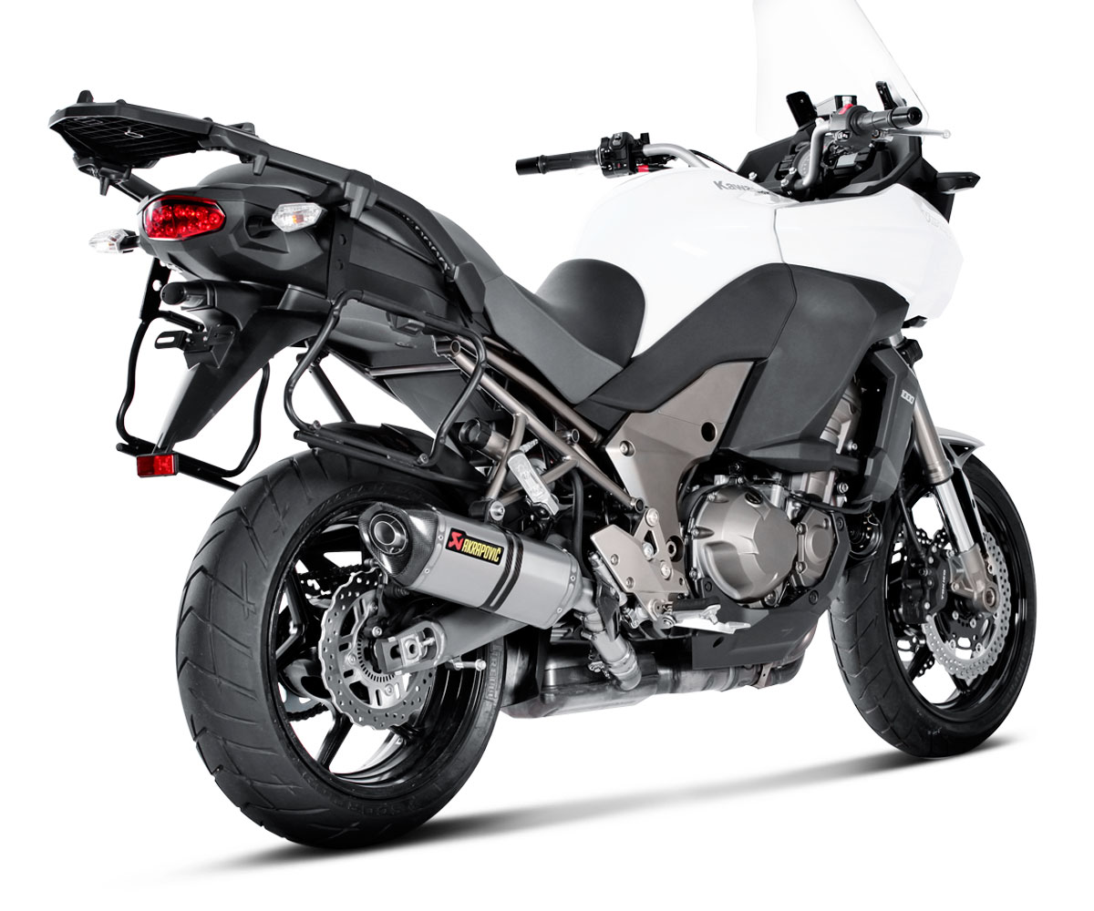 akrapovic slip on exhaust kawasaki versys 1000 2015 2017. Black Bedroom Furniture Sets. Home Design Ideas