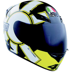 AGV K3 Gothic Helmet Black/White/Yellow (Closeout)
