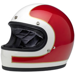 Biltwell Gringo Tracker Helmet Red/White/Blue (Closeout)