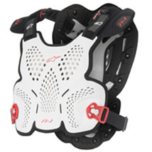 Alpinestars A-8 Roost Guard White/Black/Red