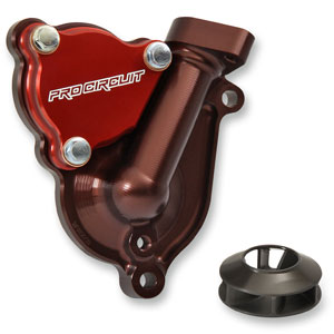 Pro Circuit Water Pump Cover w/ Impeller for KX250F 17