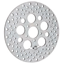 """Drag Specialties 11.8"""" Polished Stainless Steel Drilled Front Brake Rotor"""