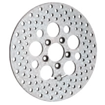 """Drag Specialties 11.8"""" Polished Stainless Steel Drilled Rear Brake Rotor"""