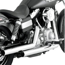 Vance & Hines Straightshots Exhaust for Dyna 06-11