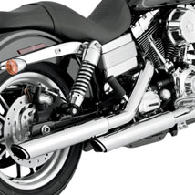 "Vance & Hines 3"" Round Twin Slash Slip-On Exhaust for FXDC 91-16"