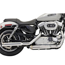 "Bassani 3"" Firepower Slip-On Exhaust (Slash Cut) for XL 04-13"