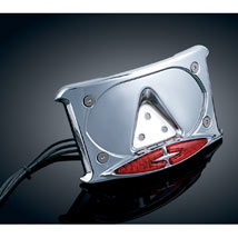 Kuryakyn Curved License Plate Frame for VTX1800R 02-08 (Closeout)