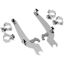 Memphis Shades No-Tool Trigger-Lock Windshield Mount Kits (Sportshield Windshields Only) for XL 86-12