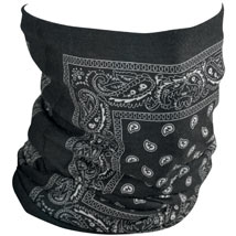 Zan Headgear Fleece-Lined Motley Tube Black-Paisley
