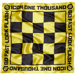 Icon 1000 Slickery Scarf Black/Yellow