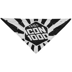 Icon 1000 Highway Hanky Scarf Black/White