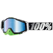 100% Racecraft Graphic Goggles Metal-Lime (Closeout)