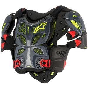 Alpinestars A-10 Full Chest Protector Antracite/Black/Red