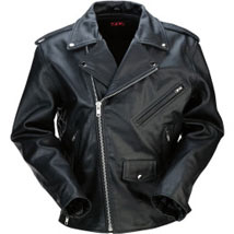 Z1R Men's Leather 9MM Jacket Black