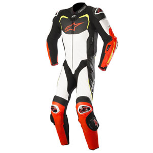 Alpinestars GP Pro Leather Suit Black/White/Red/Fluo-Yellow